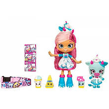 Shopkins Кукла Миа Милк и питомец 56955 Shoppies Wild Style Mia Milk and Maisy Moo Shoppet Pack