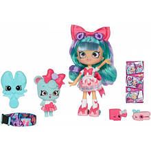 Shopkins Кукла Белла и питомец Мишка 56716 Shoppies Wild Style Bella Bow and Bowdie Bear