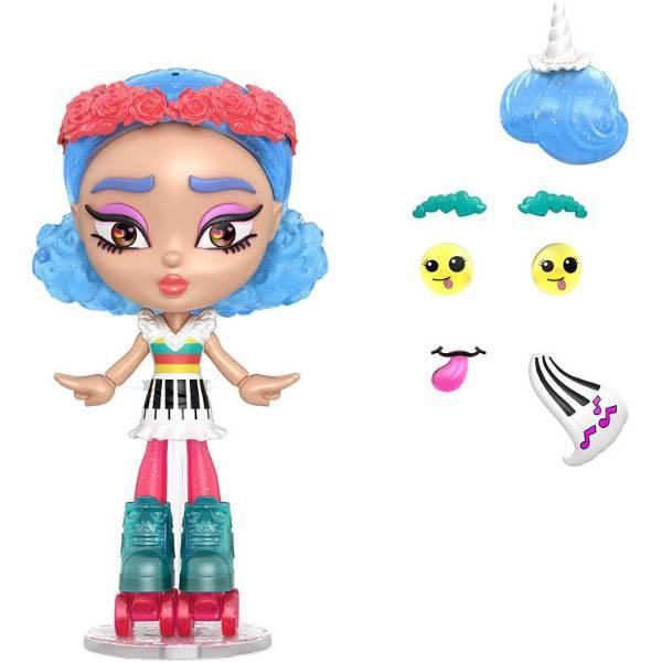 Mattel Лялька-конструктор Лотта Створи настрій GMW43 Lotta Looks Skate Pop Doll