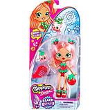 Shopkins Shoppie Кукла Клубничка Берри Три Пляжный стиль 57249 Berri D'lish Doll Beach Style Single Pack, фото 2