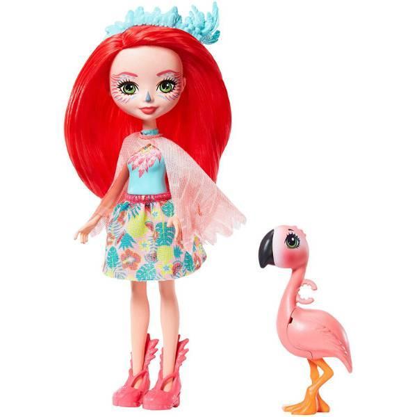 Enchantimals Фламинго Фенси Флэминг и Свош GFN42 Fanci Flamingo Doll Swash Figure