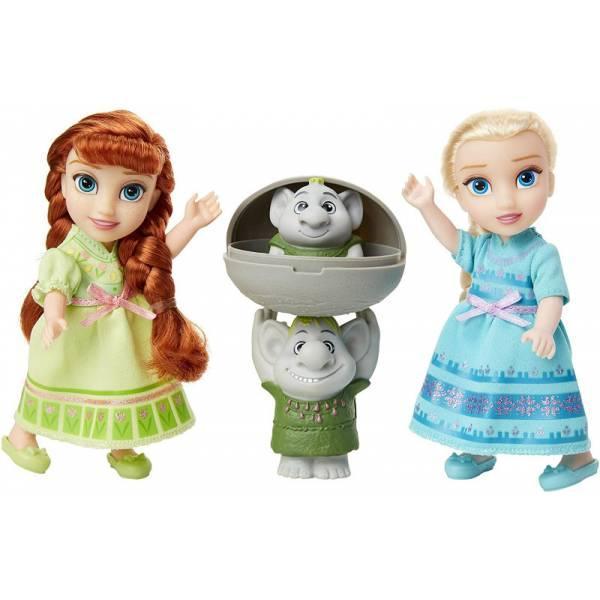 Disney Frozen 2 Набор Анна Эльза в детстве и Тролли 205271 Petite Anna Elsa Dolls with Surprise Trolls Gift