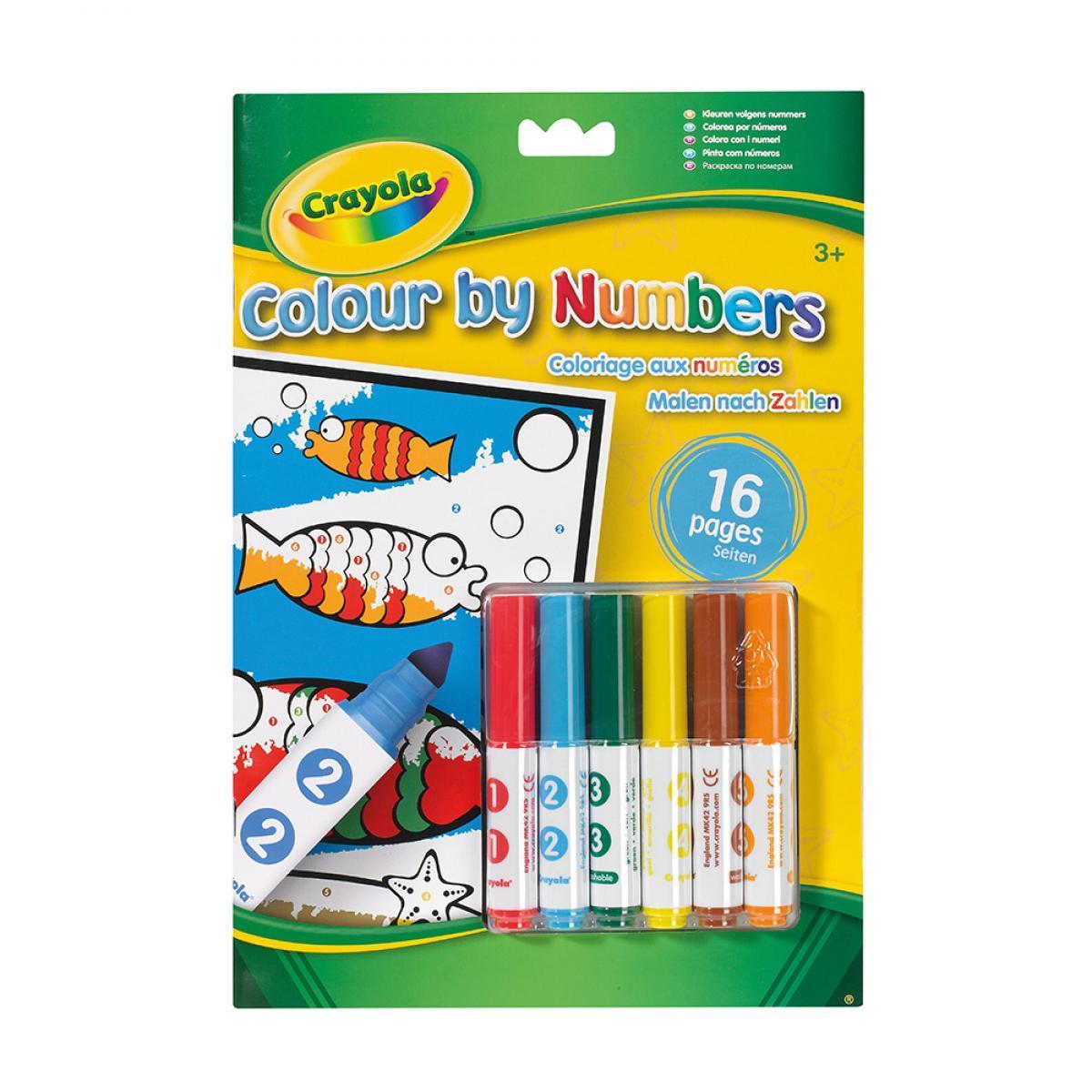 Crayola Раскраска по номерам с фломастерами подводный мир 7321 colour by numbers