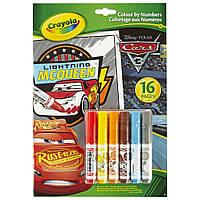 Crayola Раскраска по номерам с фломастерами тачки 3 04-0289 colour by numbers