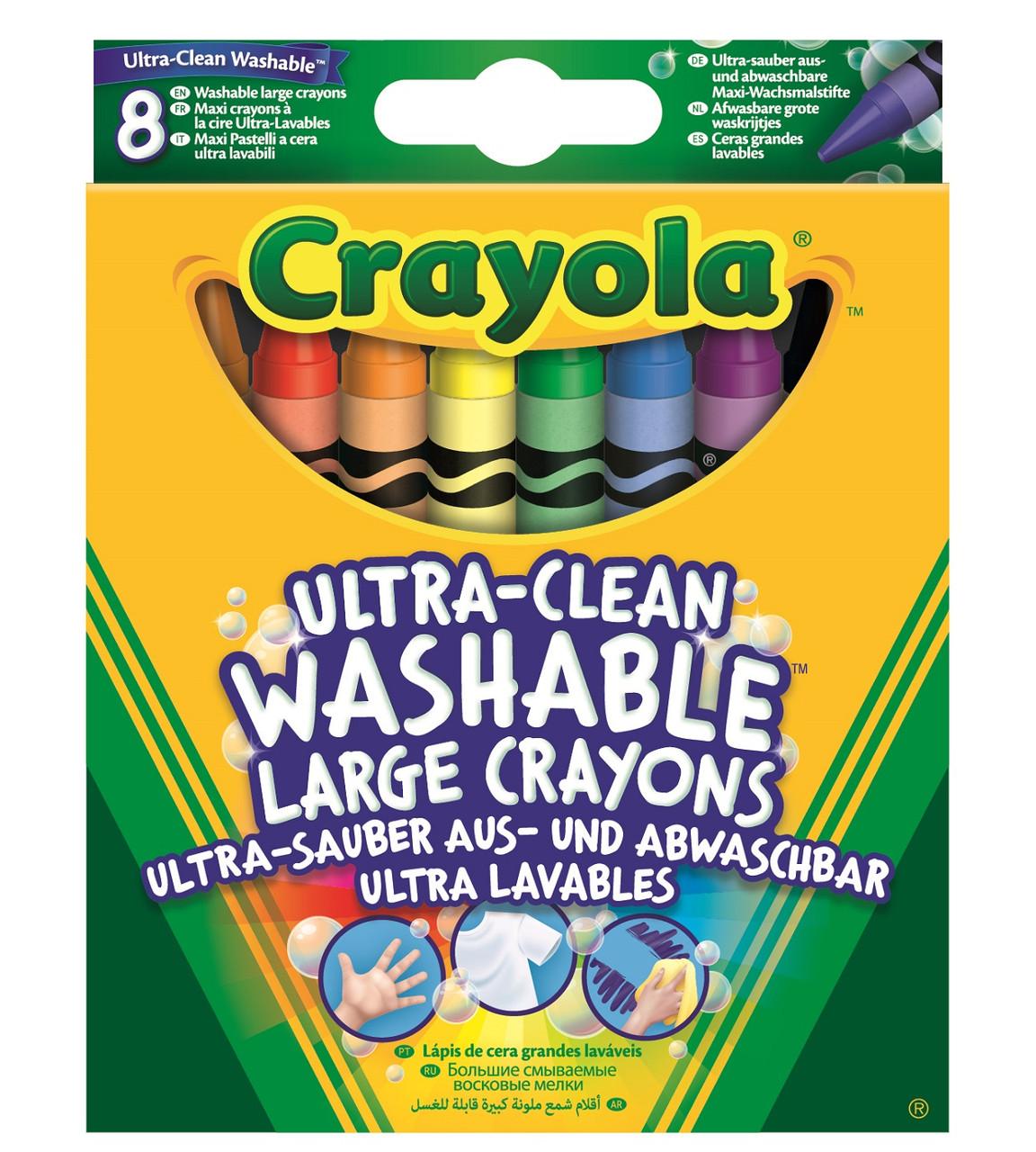 Crayola Большие смываемые восковые карандаши мелки 8 шт 52-3282 washable crayons