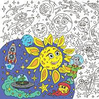 Плакат-розмальовка Космос, Розмальовки для дітей/ магазин Gipo