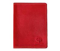 Обложка на паспорт Grande Pelle. Красная, Кожаные обложки для документов