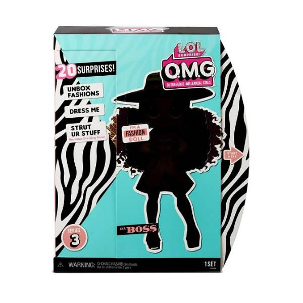 L.O.L. Surprise! S3 Модная фэшн кукла сюрприз Леди Босс 567219 O.M.G. Da Boss Fashion Doll with 20 Surprises