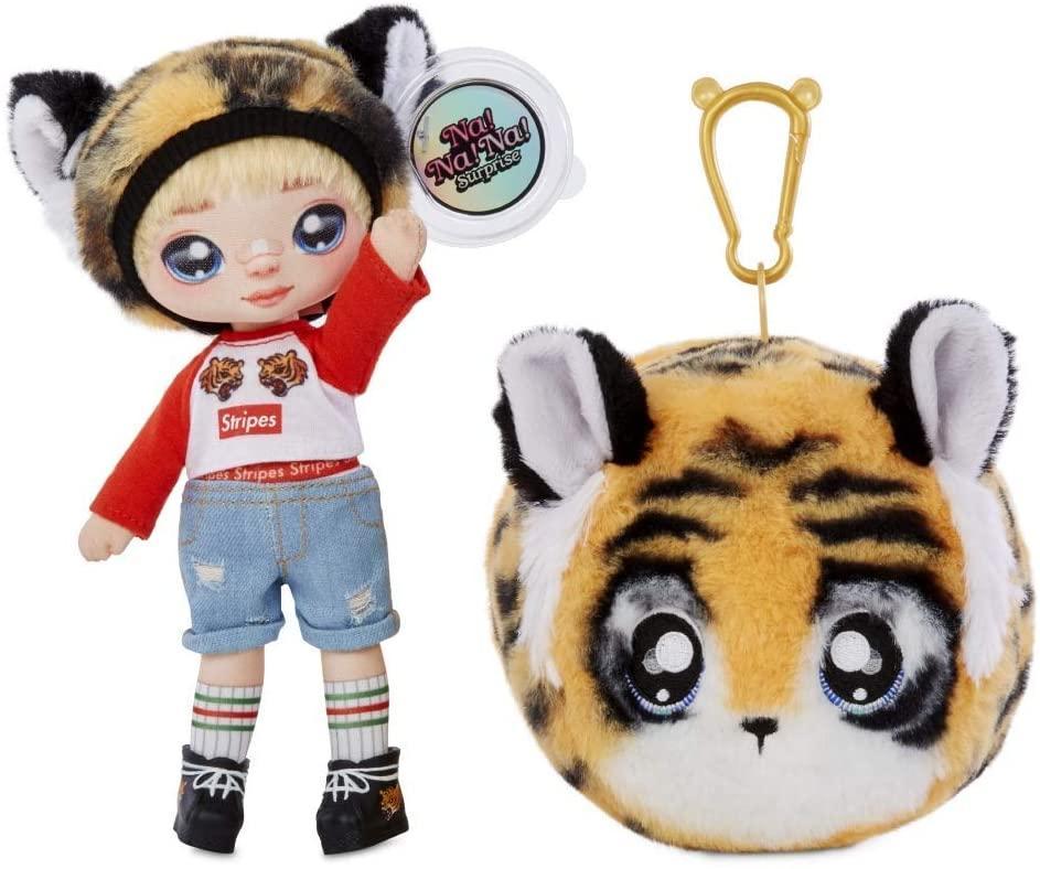 Na! Na! Na! Surprise S1 Мягкая куколка сюрприз с сумочкой Си Джей Каддлс тигр 565987 CJ Cuddles Diamond