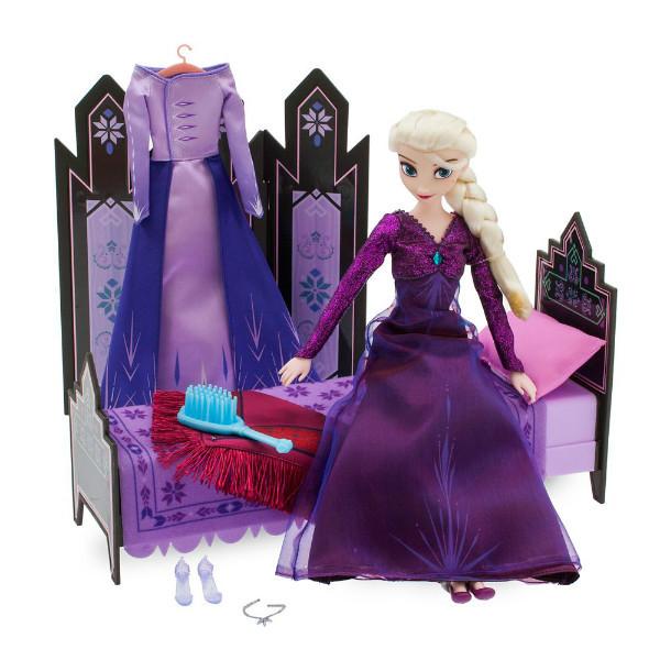 Disney Frozen 2 Холодное сердце 2 набор Эльза и комната Эльзы спальня Elsa Classic Doll Bedroom Play Set