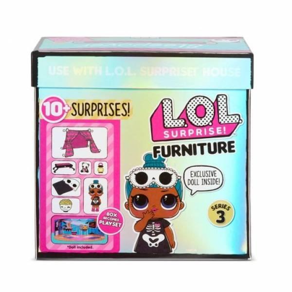 L. O. L. Surprise! S3 Стильный интерьер Комната Леди-сплюшки 570035 Furniture Sleepover Sleepy Bones 10+