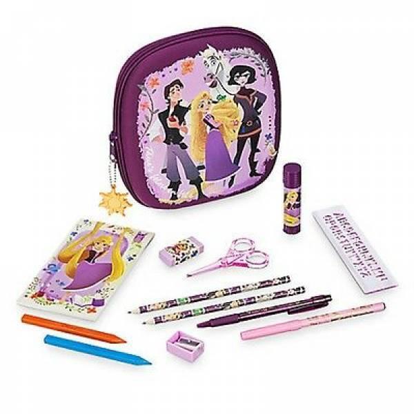 Disney Store Пенал школьный запутанная история Рапунцель с наполнением Tangled Rapunzel Zip-Up Stationery Kit