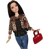 Barbie Барби Стиль Ракель Леопардовый пиджак CFM77 Style Raquelle Doll Leopard Print Jacket, фото 2
