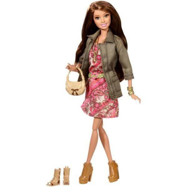 Barbie Барби летний Стиль CFM78 Summer Doll with Pink Paisley Dress and Jacket