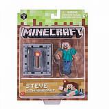 Minecraft S3 Майнкрафт фигурка Стив 16480 Steve Action Figure, фото 3