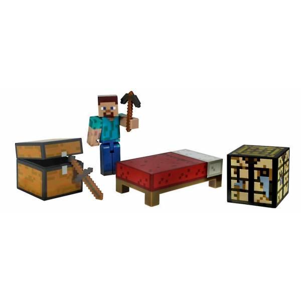 Minecraft S1 Майнкрафт набір для виживання Стів Survival Pack Action Figure Set