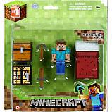 Minecraft S1 Майнкрафт набір для виживання Стів Survival Pack Action Figure Set, фото 2