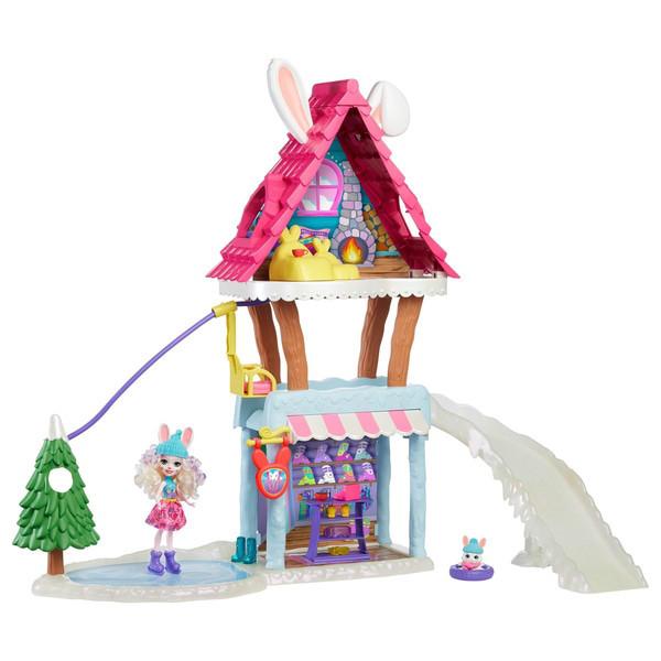 Enchantimals лижний будиночок-шале з кроликами Беви і Джамп Ski Chalet Playset