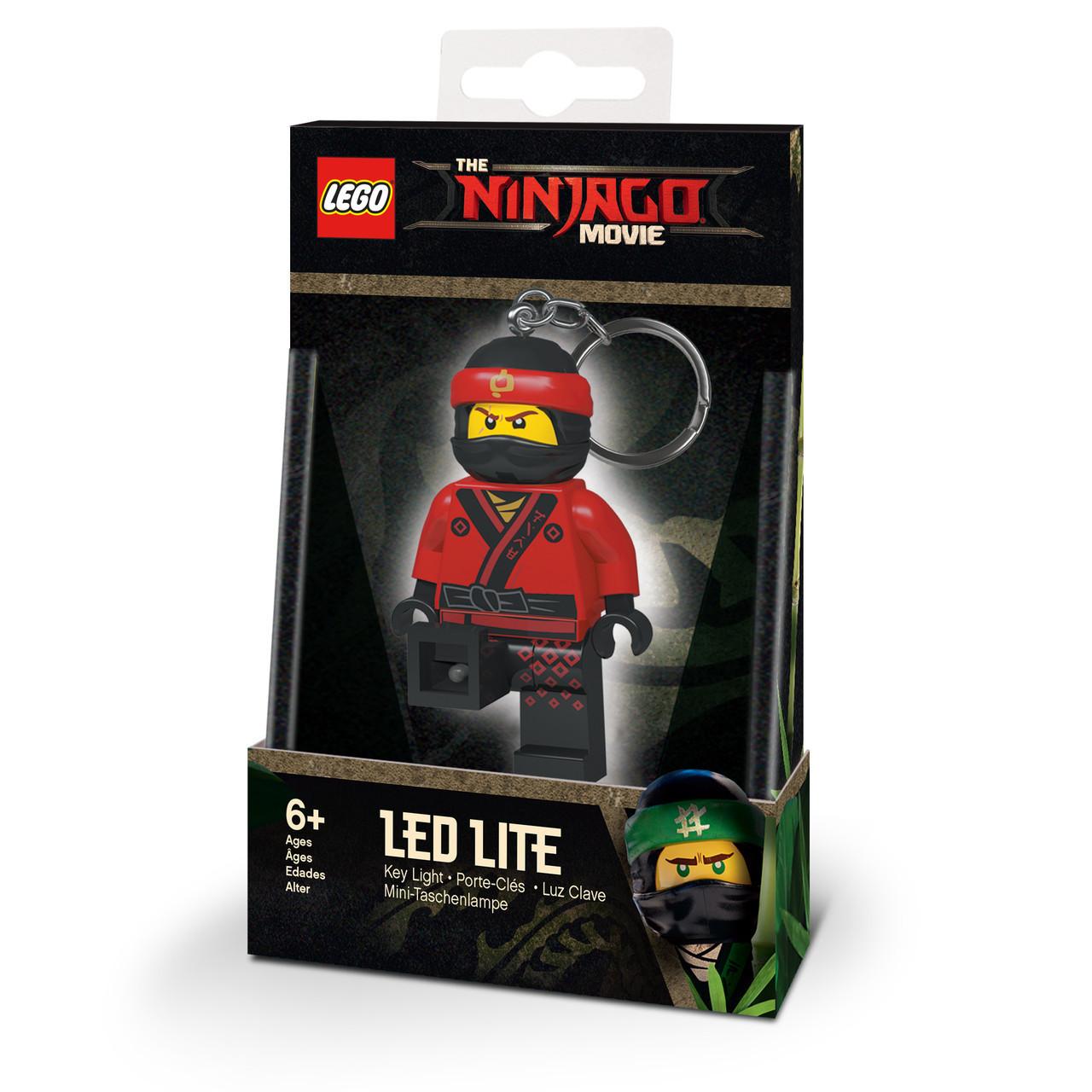 Lego Ninjago Брелок-фонарик Кай светодиодный LGL-KE108K Movie Ninja Kai Key Chain