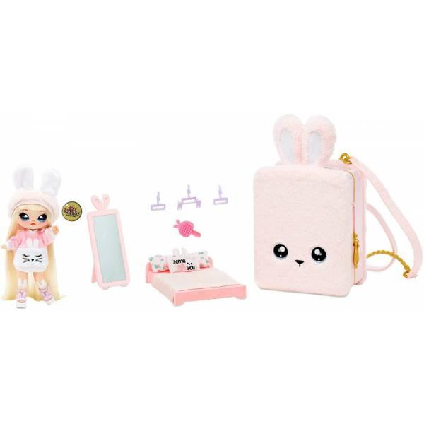 Na! Na! Na! Surprise Мягкая куколка с рюкзачком спальня зайчик 569732 Backpack Bedroom Bunny Playset