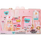 Na! Na! Na! Surprise Мягкая куколка с рюкзачком спальня зайчик 569732 Backpack Bedroom Bunny Playset, фото 5