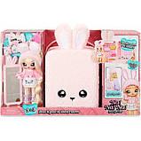Na! Na! Na! Surprise Мягкая куколка с рюкзачком спальня зайчик 569732 Backpack Bedroom Bunny Playset, фото 7