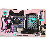 Na! Na! Na! Surprise Мягкая куколка с рюкзачком спальня котик 569749 Backpack Bedroom Black Kitty Playset, фото 3
