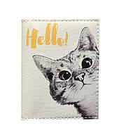 Обложка на ID паспорт Любопытный котик, Обложки на ID-карты и пластиковые права/ магазин Gipo, фото 1