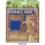 Minecraft S4 Майнкрафт Алекс в золотой броне 19970 Alex in Gold Armor Figure Pack, фото 2