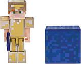 Minecraft S4 Майнкрафт Алекс в золотой броне 19970 Alex in Gold Armor Figure Pack, фото 3