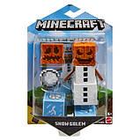 Minecraft Майнкрафт фигурка снежный голем 2 лица Comic Maker Snow Golem Figure with 2 Faces, фото 4