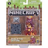 Minecraft S4 Майнкрафт фигурка Скелет в огне 19974 Skeleton on Fire Figure Pack, фото 2