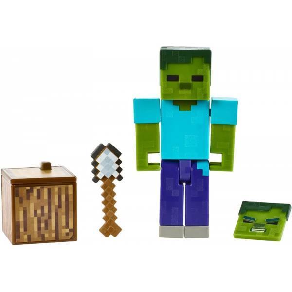 Minecraft Майнкрафт фігурка Зомбі 2 особи GCC19 Comic Zombie Mode Action Figure