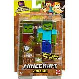 Minecraft Майнкрафт фігурка Зомбі 2 особи GCC19 Comic Zombie Mode Action Figure, фото 2