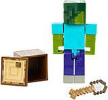 Minecraft Майнкрафт фігурка Зомбі 2 особи GCC19 Comic Zombie Mode Action Figure, фото 5
