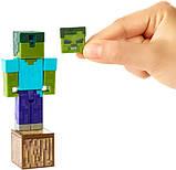 Minecraft Майнкрафт фігурка Зомбі 2 особи GCC19 Comic Zombie Mode Action Figure, фото 6