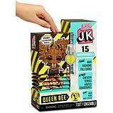 L.O.L. Surprise! S1 Куколка сюрприз мини Королева Пчелка 570783 JK Queen Bee Mini Fashion Doll with 15, фото 3