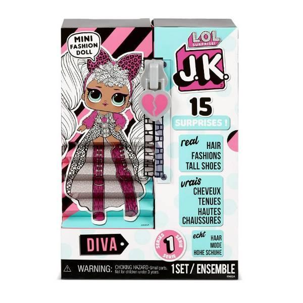 L.O.L. Surprise! S1 Куколка сюрприз мини Леди дива 570752 JK Diva Mini Fashion Doll with 15 Surprises