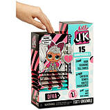 L.O.L. Surprise! S1 Куколка сюрприз мини Леди дива 570752 JK Diva Mini Fashion Doll with 15 Surprises, фото 3