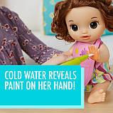 Baby Alive Интерактивная кукла пупс Рисование Finger Paint Baby Brown Hair, фото 3