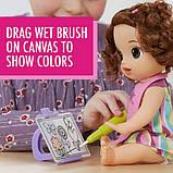Baby Alive Интерактивная кукла пупс Рисование Finger Paint Baby Brown Hair, фото 4