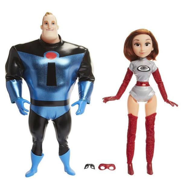 The Incredibles 2 Суперсемейка 2 Мистер Невероятный и миссис Эластика 77213 Elastigirl Mr. Incredible 2 Pack