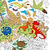 Большая раскраска Диноленд. Мир динозавров, Раскраски для детей/ магазин Gipo