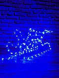 """Светодиодный """"Новогодний Олень и санки"""" светящаяся фигура Синий, фото 4"""