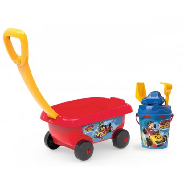 Smoby Микки Маус Тележка с набором для игры с песком 867003 mickey mouse