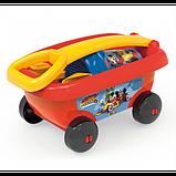 Smoby Микки Маус Тележка с набором для игры с песком 867003 mickey mouse, фото 2