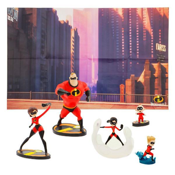 Disney Игровой набор с фигурками Суперсемейка 2 2019 The Incredibles 2 Figure Play Set