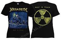 Футболка MEGADETH Rust In Peace (с радиацией) женская