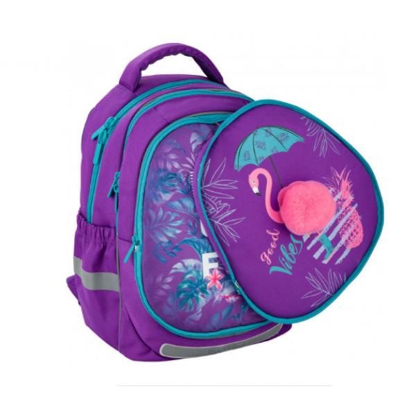 Kite Школьный рюкзак со сменной панелью Красивые тропики K20-700M Beautiful Tropics