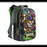 1Вересня Шкільний каркасний рюкзак черепашки ніндзя 556203 H-25 TMNT, фото 4
